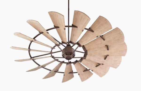 Quorum Windmill 72 Inch Oiled Bronze With Weathered Oak Blades Outdoor Ceiling  Fan Photo