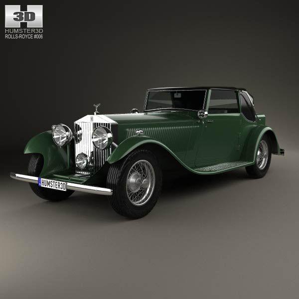 Rolls-Royce Phantom II Continental 1933 3d model from humster3d.com. Price: $75
