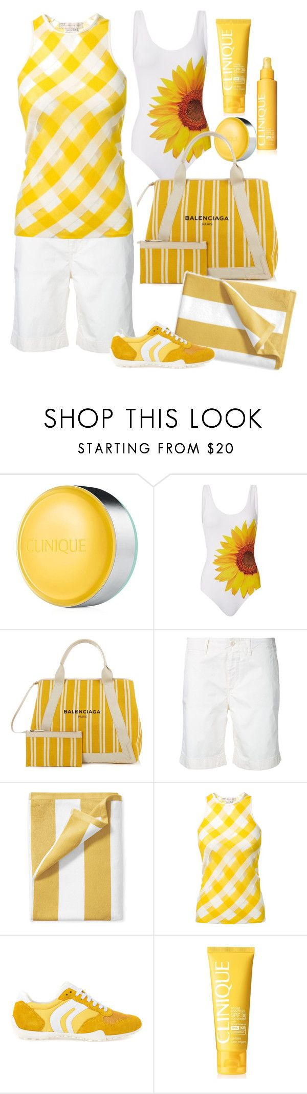"""""""HEATWAVE 🌟"""" by mara-wink ❤ liked on Polyvore featuring Clinique, ONIA, Balenciaga, Closed, Serena & Lily, STELLA McCARTNEY and Geox"""