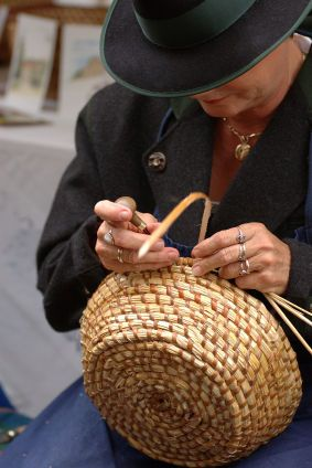 A selection of articles related to basket weaving.