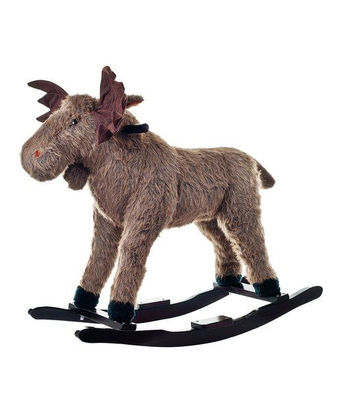 Ready to rock. Little ones will love exploring the wilderness on the back of Max Moose, who is handcrafted with a wood core and stands on sturdy rockers.Weight capacity: 80 lbs.30.5'' W x 28.5'' H x 20.5'' DWood / polysynthetic plush-blend batting / cottonRecommended for ages 2 years ...