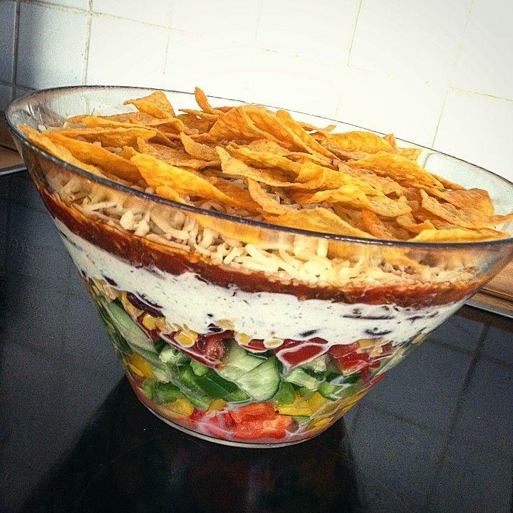 Taco - Salat, ein raffiniertes Rezept aus der Kategorie Raffiniert & preiswert. Bewertungen: 139. Durchschnitt: Ø 4,7.