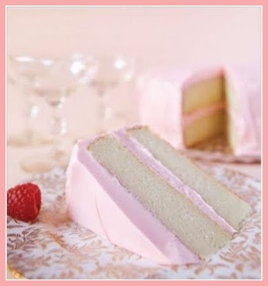 Pink Champagne Cake. Best cake ever. I would go lighter on the frosting and top it all off with a coat of white almond bark.