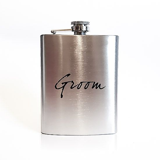 Looking for a perfect Engagement gift? The Groom Hip Flask ia an ideal gift and can be delivered directly to the grooms home.