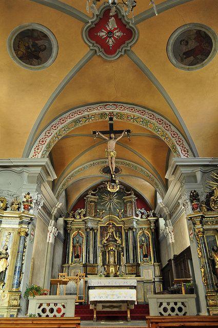 Eglise baroque de la Sainte Trinité '1759, Les Contamines-Montjoie, Haut-Faucigny, Haute-Savoie, Rhône-Alpes, France.   par byb64