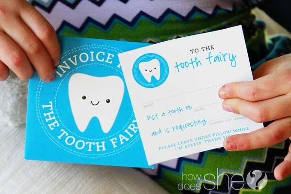 Attention Tooth Fairy: Here's an adorable and FREE invoice kit for your travels! ;) #printables #howdoesshe