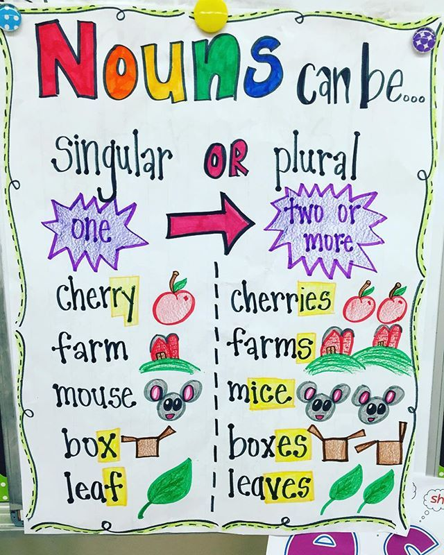 Singular and plural nouns can be so tricky! #AnchorCharts #TeachersofIG