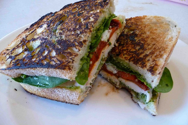 Grilled Chicken & Pesto Panini by CookinCanuck, via Flickr