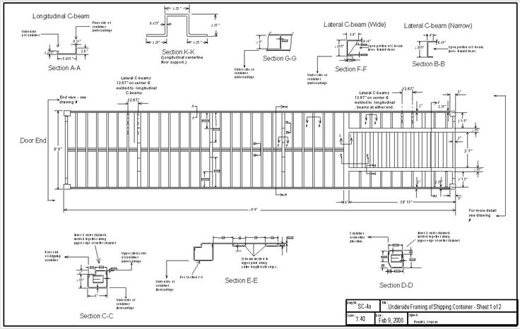 Underside Framing Of Shipping Container Sheet 1 2