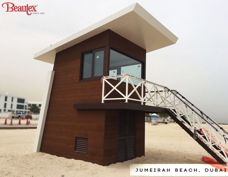Check out this classy lifeguard station at the Jumeirah Beach, Dubai by ‪#‎TeamBeautex‬. What sets this station apart is the cladding by Weathertex Pty Ltd, enhancing its main feature , making it one of the attraction at the Dubai Beach. Do check this out! For more cladding options: http://bit.ly/1shIERO ‪#‎BeautexAtWork‬ ‪#‎weathertex‬ ‪#‎cladding‬ ‪#‎Dubai‬ ‪#‎JumeirahBeach‬ ‪#‎exteriors‬ ‪#‎lifeguardstation‬ ‪#‎BeautexLuxuryConcepts‬ ‪#‎since1963‬ ‪#‎designersdome‬ ‪#‎designer‬ ‪#‎design‬