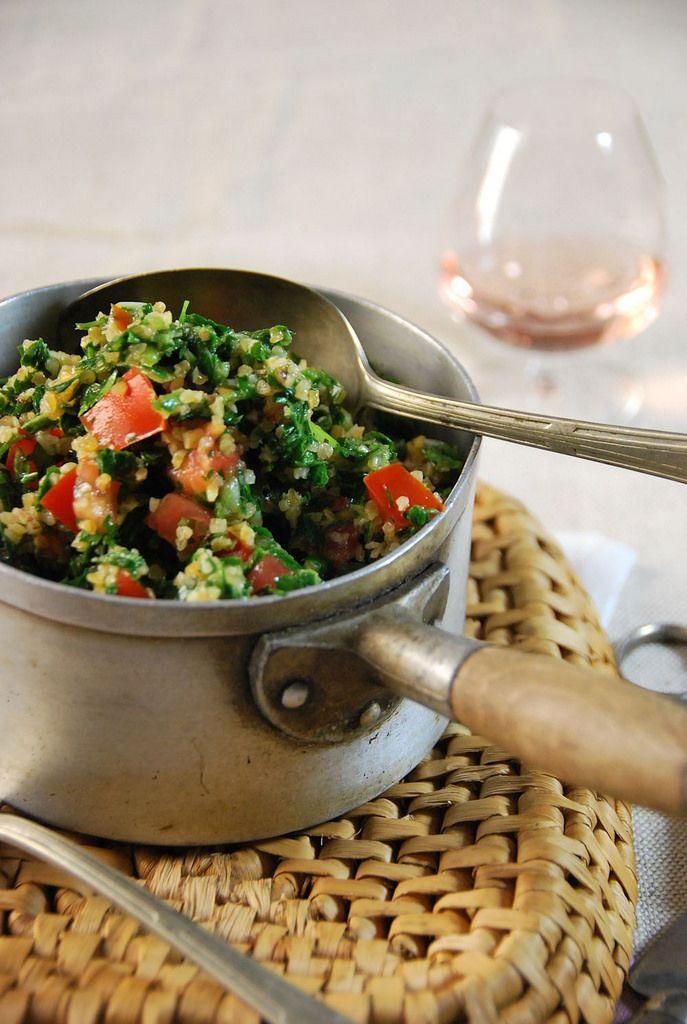 Taboulé libanais {recette végétalienne}Tangerine Zest