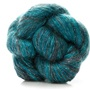 It was difficult to find a good representation of the Art Yarns Ensemble in H23. It is a luxurious 75% sild, 25% cashmere in variegated or self striping dark teals. The darkest shade is like a Navy Teal. Farest shade is like a medium teal. I have it planned for my Tilli Tomas Sweater. I have yet to decide whether to purchase a separate beaded yarn, another yarn to bead myself, or to bead this yarn for the neckline and sleeve edging. Any suggestions?