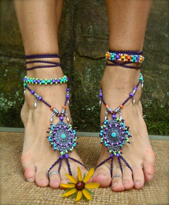 bohemian DREAM BAREFOOT SANDALS sole less sandals beach by GPyoga, $89,00Belly Dance, Barefoot Sandals, Bohemian Anklets, Beachy Jewelry, Bohemian Style, Feet Jewelry, Bohemian Dreams Barefoot Sands, Beach Wedding, Bohemian Shoes