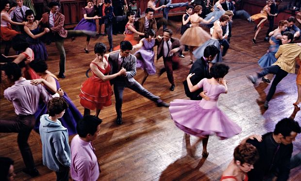 Vivid colour and graceful movement are palpable in Ernst Haas' image of a dance routine from West Side Story, taken while working on the set of Robert Wise and Jerome Robbins' classic film adaptation of the musical; which won ten Oscars.