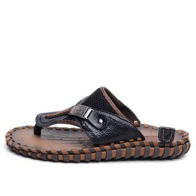 [EBay] Dxkzmcm Genuine Leather New 2017 Casual Men Sandals Slippers Summer Shoes Beach Flip Flops