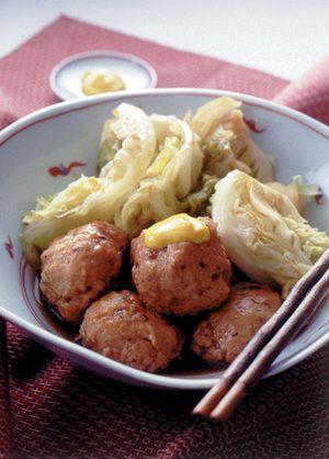 鶏つくねとキャベツの煮もの | 大久保恵子さんのレシピ【オレンジ ...