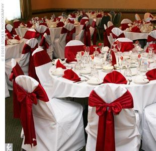 Black White Red Gold Reception Decorations | The Couple Decided On A Color  Scheme Of Cranberry