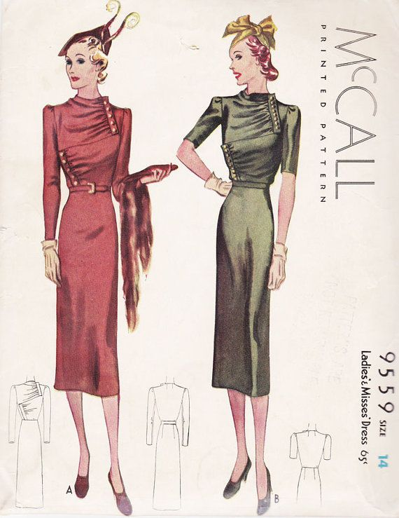 McCall 9559 | 1930s Ladies' and Misses' Dress