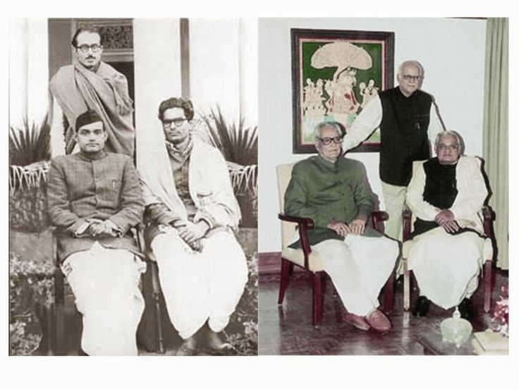 Atal Bihari Vajpayee with Lal Krishna Advani & Bhairo Singh Shekhawat over decades