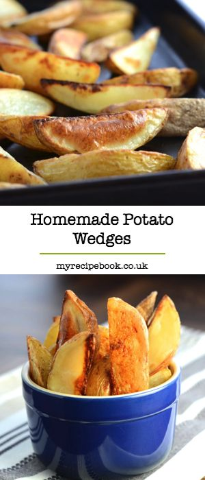 Homemade potato wedges make a great alternative to chips. They're easy to make and taste delicious.