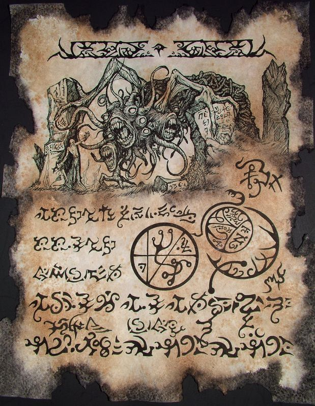 YOG SOTHOTH RITUAL cthulhu larp Necronomicon Fragment occult horror lovecraft monster.