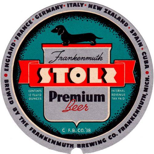 Vintage Stoli Label, 1930s