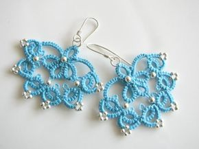 Tatting, frywolitki, occhi: Tatted earings