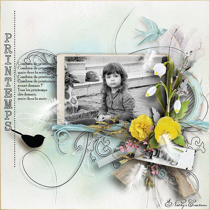 "kit "" At The Down Of Spring "" by Natali Design words arts :  Le Printemps by  "" L'art du Scrap - digi  """