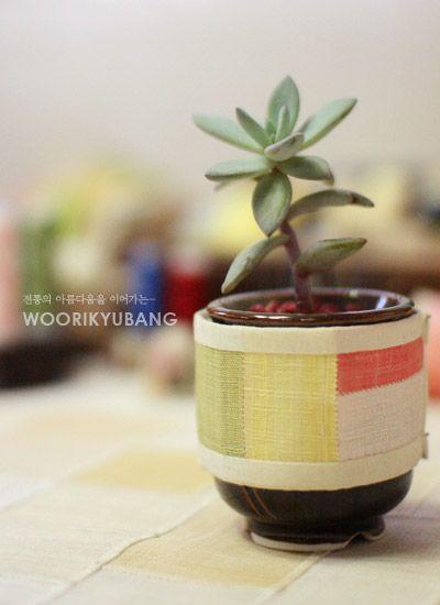 Zenana _ linen patchwork crafts / decorative flowerpot: Naver blog