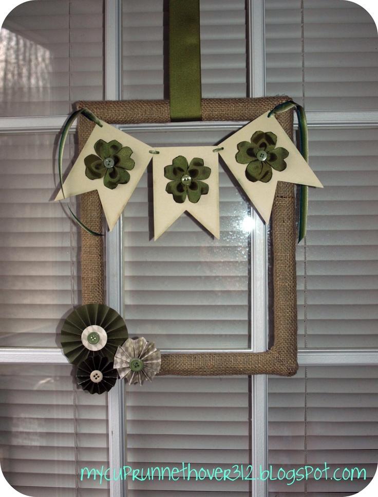 St Patrics Day Wreath!!! Super Cute!