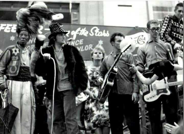 Screaming Lord Sutch and the Savages with celebrity Prince Monolulu 1960