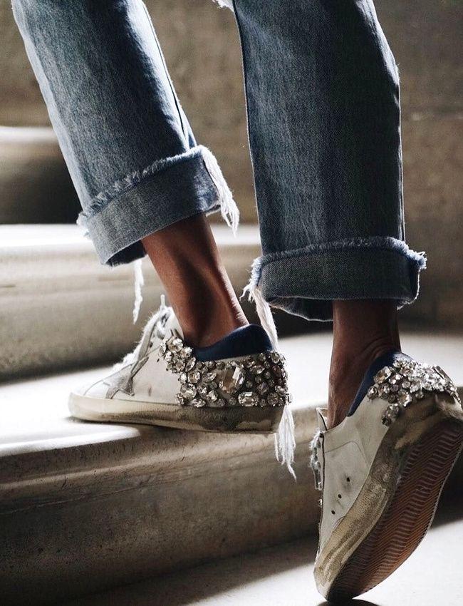 Pour ou contre les sneakers donnant l'impression d'avoir été plongées dans une flaque de diamants ?