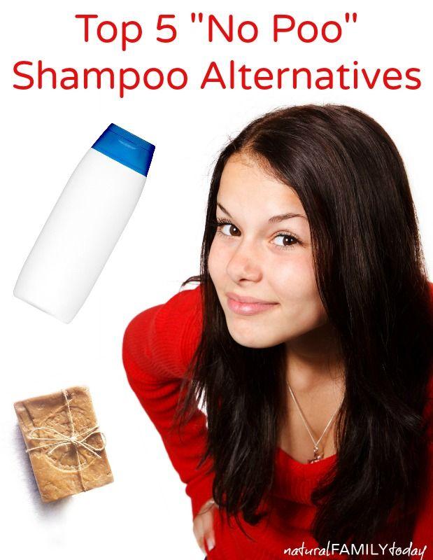 """Top 5 """"no poo"""" shampoo alternatives NaturalFamilyToday.com"""