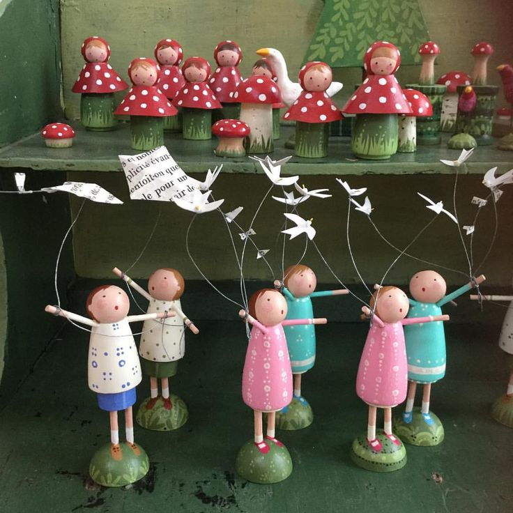 Finally IN the SHOP today! Toadstool Girls, Boys Flying Kites and Girls With Birds....whew!