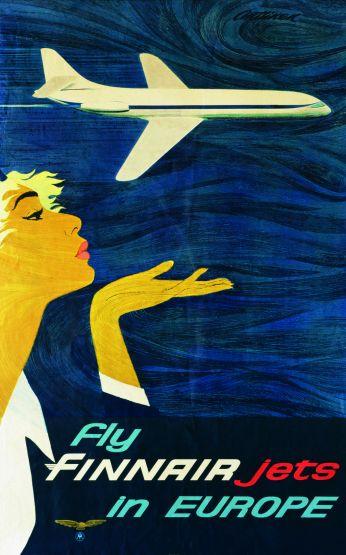Finnair travel poster for Europe