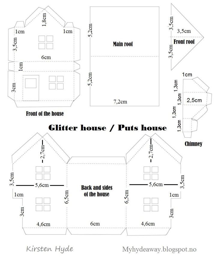 My Craft and Garden Tales: Glitter house box with Maja design, with template