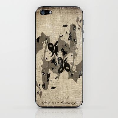 BW iPhone & iPod Skin by Helena Hotzl - $15.00