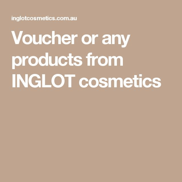Voucher or any products from INGLOT cosmetics
