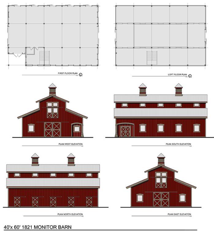 Barn-style House Plan - Dream Green Home Plans