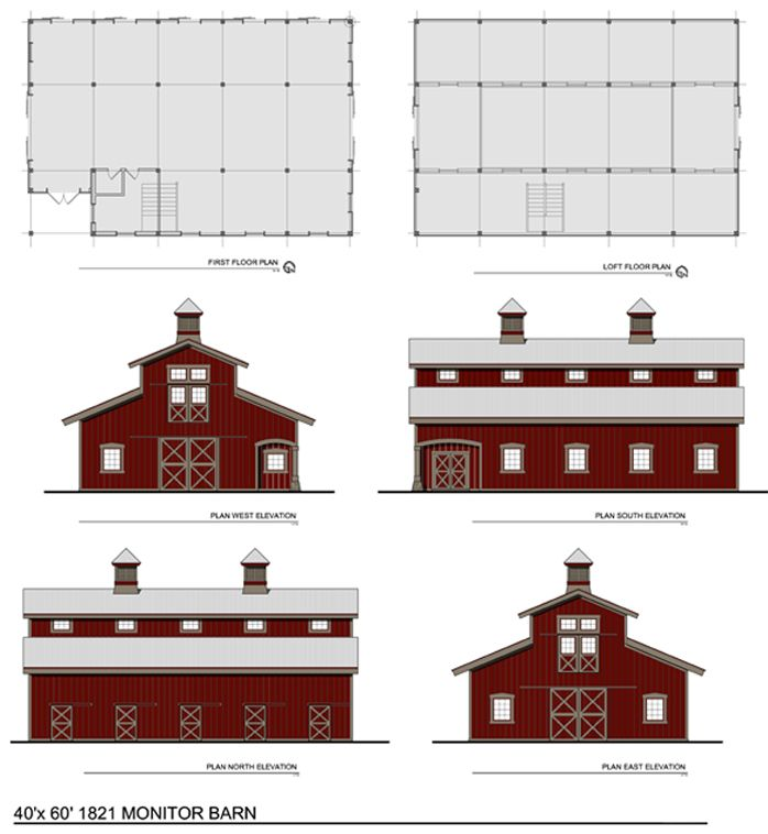 Barn shaped house plans woodworking projects plans for Barn style floor plans
