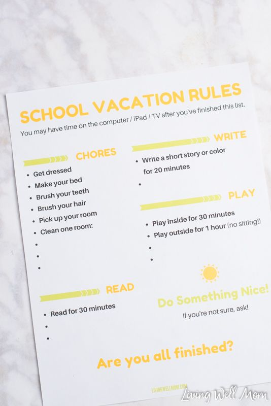 School vacation is one of those times moms both look forward to and dread. Beyond the obvious spending more time with our kids, it's nice to have a break from the school routine of packing lu…