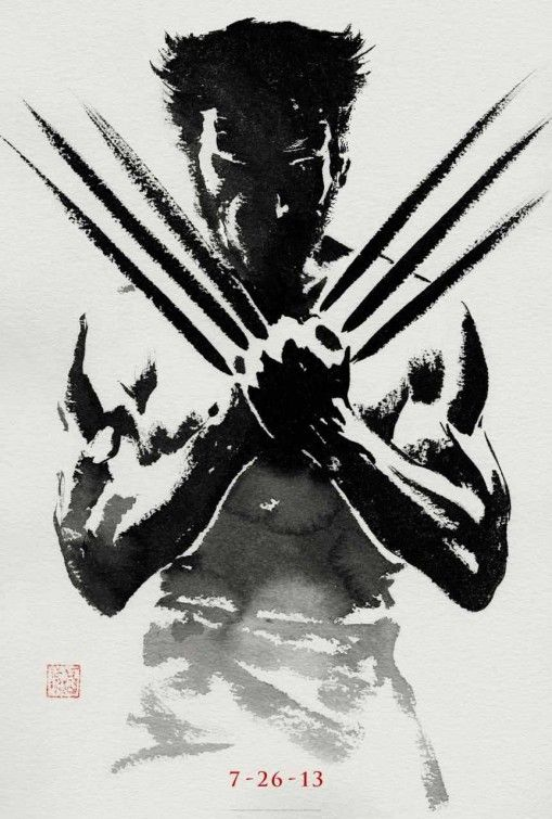 This is just an awesome teaser poster for Wolverine.  Great use of Black and White and Grays.