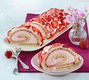 Das Rezept für Erdbeer-Joghurtrolle und weitere kostenlose Rezepte auf LECKER.de