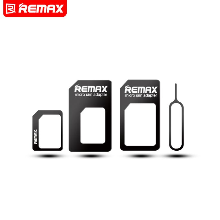 $1.30 - Remax 4 in 1 Mobile Phone Nano SIM Card Micro Standard SIM Card Adapter SIM Card Tool Set Eject Pin For iOS Android Retail Box | Shop Now! - WorldOfTablet.com