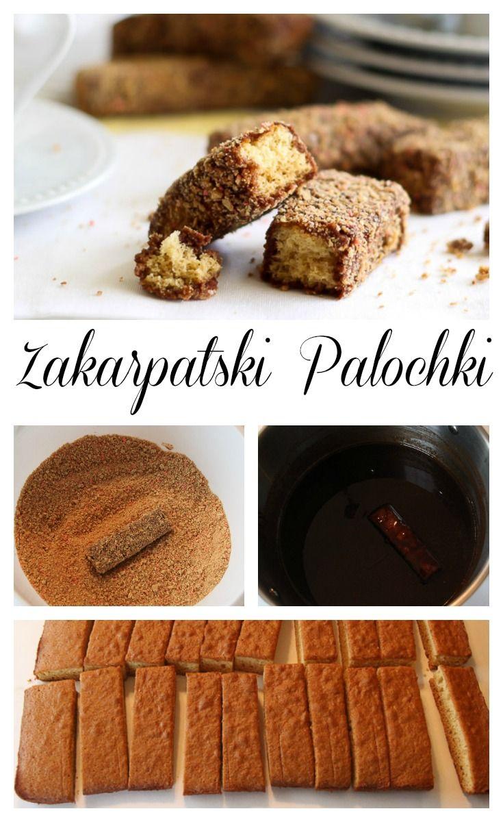 Soft honey cake bars, coated in chocolate and crumbs.