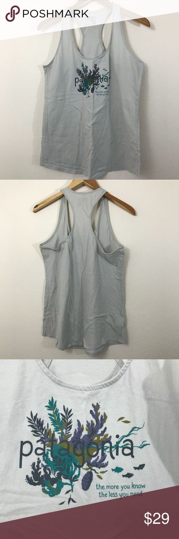 Patagonia Razorback tank top grey large Gently used. No stains or tears. Non smoking home . Patagonia Tops Tank Tops