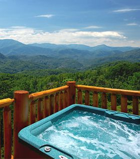 Hot Tub with a view of the mountains. Beautiful! #thermospas