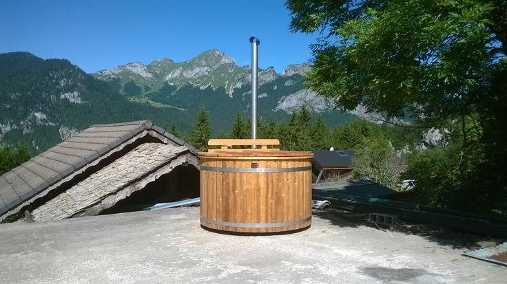 """Spa nordique en bois chauffé diam 170 cm un pur plaisir """"outdoor"""""""