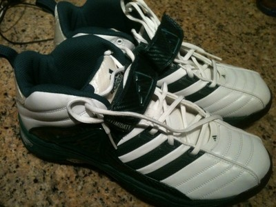 ADIDAS Mens White Green Football Turf Shoes Cleats Pro Intim D Hi 13 M NEW  http://sportsbettingarbitrage.in
