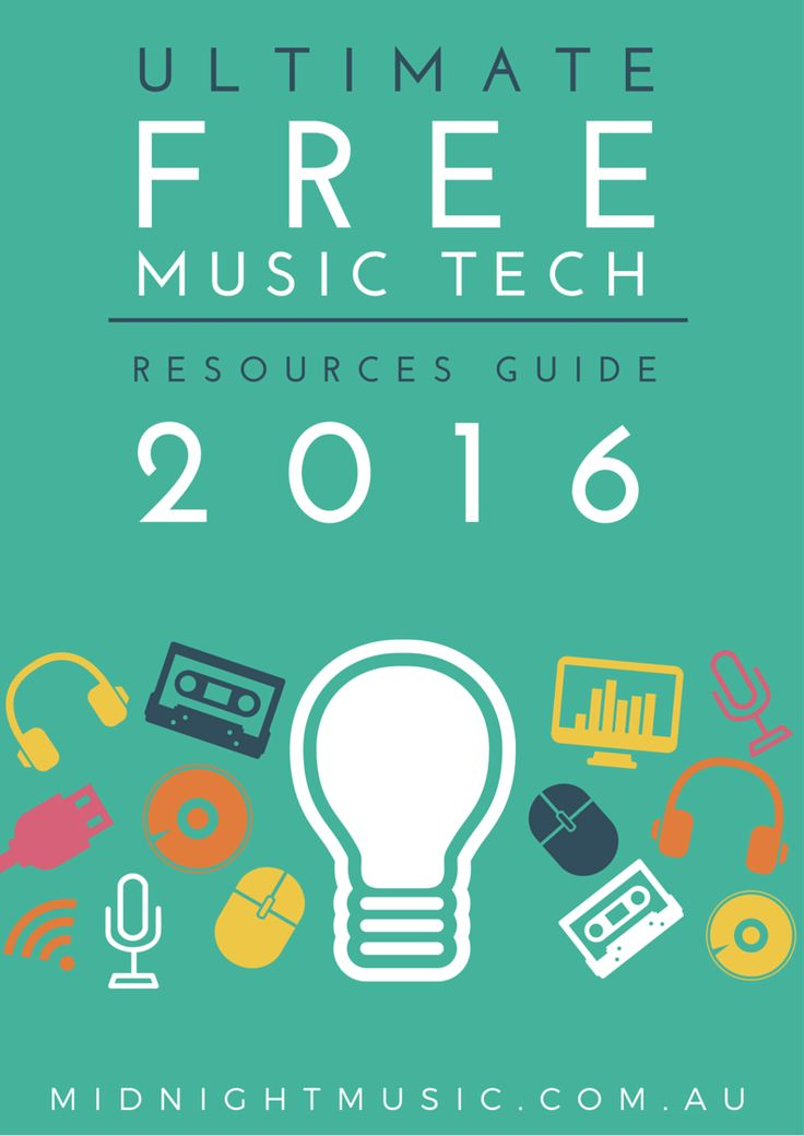 The Ultimate Free Music Tech Resources Guide 2016. 110+ free music technology resources for music teachers.